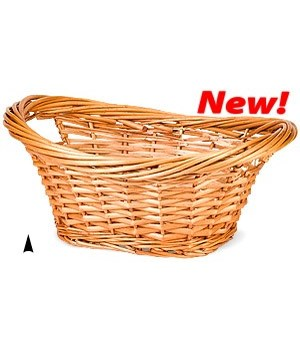 377/00 OVAL SPLIT WILLOW BOWL W/HEAVY RIM CS. PK.: