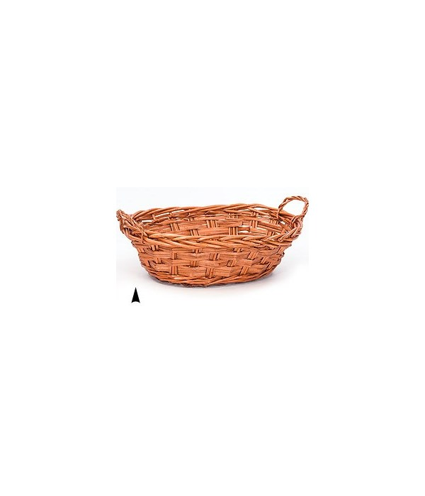 4/2461/13S OVAL STAINED WILLOW BASKET CS .PK.: 50
