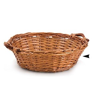 4/26982 13 ROUND WILLOW BOWL W/SIDE HANDLES CS. PK.: 60