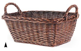 4/32003 OBLONG STAINED WILLOW BASKET CS. PK.: 15