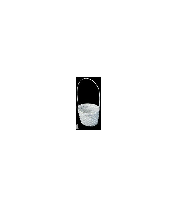 4118/AW WHITE 7 ROUND BASKET W/LINER CS. PK.: 100