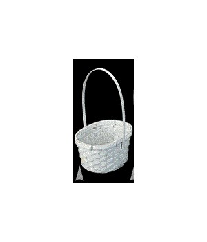 4118/BW WHITE OVAL BASKET W/LINER CS. PK.: 100