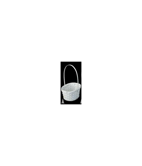4118/BW WHITE OVAL BASKET W/LINER CS. PK.: 100