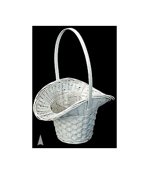 4118/CW WHITE PRINCESS BASKET W/LINER CS. PK.: 100
