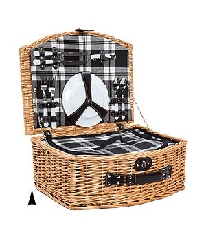 5/019 2-PERSON WILLOW PICNIC BASKET CS. PK.: 6