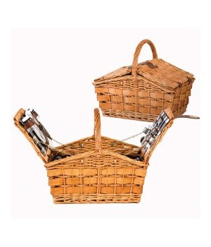 5/033 EUROPEAN STYLE 2 PERSON PICNIC BASKET CS. PK.: 8