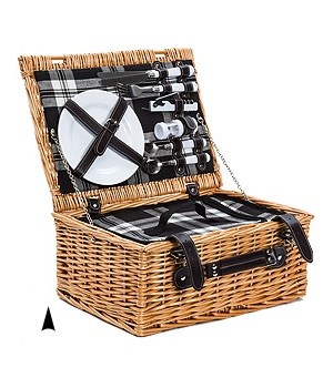 5/1123 2-PERSON WILLOW PICNIC BASKET CS. PK.: 6