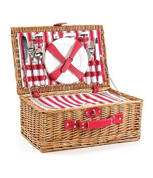 5/1247 4-PERSON WILLOW PICNIC BASKET CS. PK.: 6