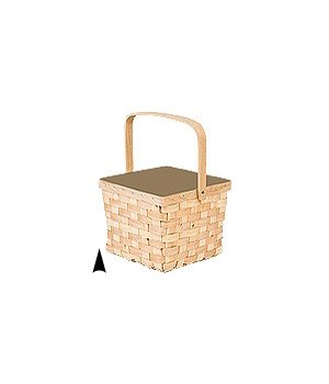 5/13-90 WOOD PICNIC BASKET CS. PK.: 24