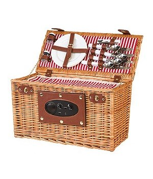 5/14151N WILLOW PICNIC BASKET W/RADIO CS. PK.: 4