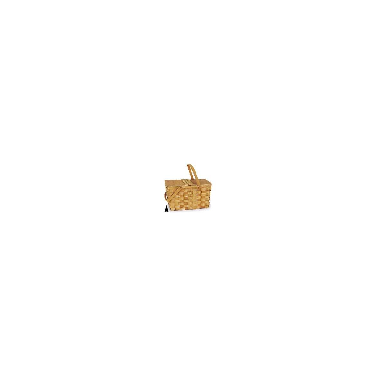 5/215 WOOD PICNIC BASKET CS. PK.: 8