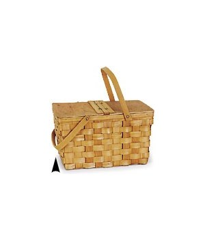 5/215 WOOD PICNIC BASKET CS. PK.: 8