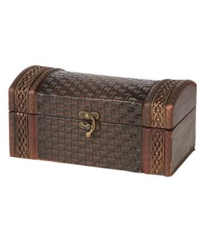 5/3245 BASKET WEAVE WOOD BOX CS. PK.: 12