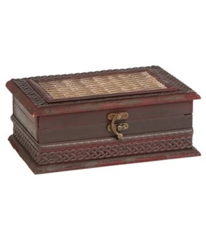 5/3329 WOOD JEWELRY BOX CS. PK.: 12