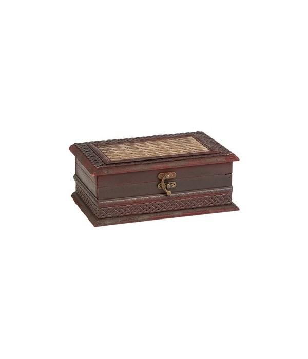 5/3329 WOOD JEWELRY BOX CS. PK.: 12