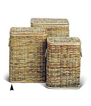5/384H S/3 RECTANGULAR HONEY RATTAN HAMPERS CS. PK.: 1