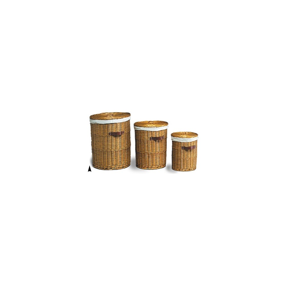 5/409 S/3 WILLOW HAMPERS W/CLOTH LINERS CS. PK.: 1
