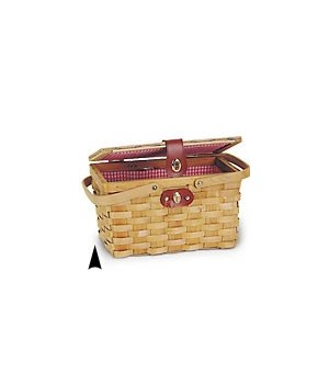 5/631 LINED WOOD PICNIC BASKET CS. PK.: 16
