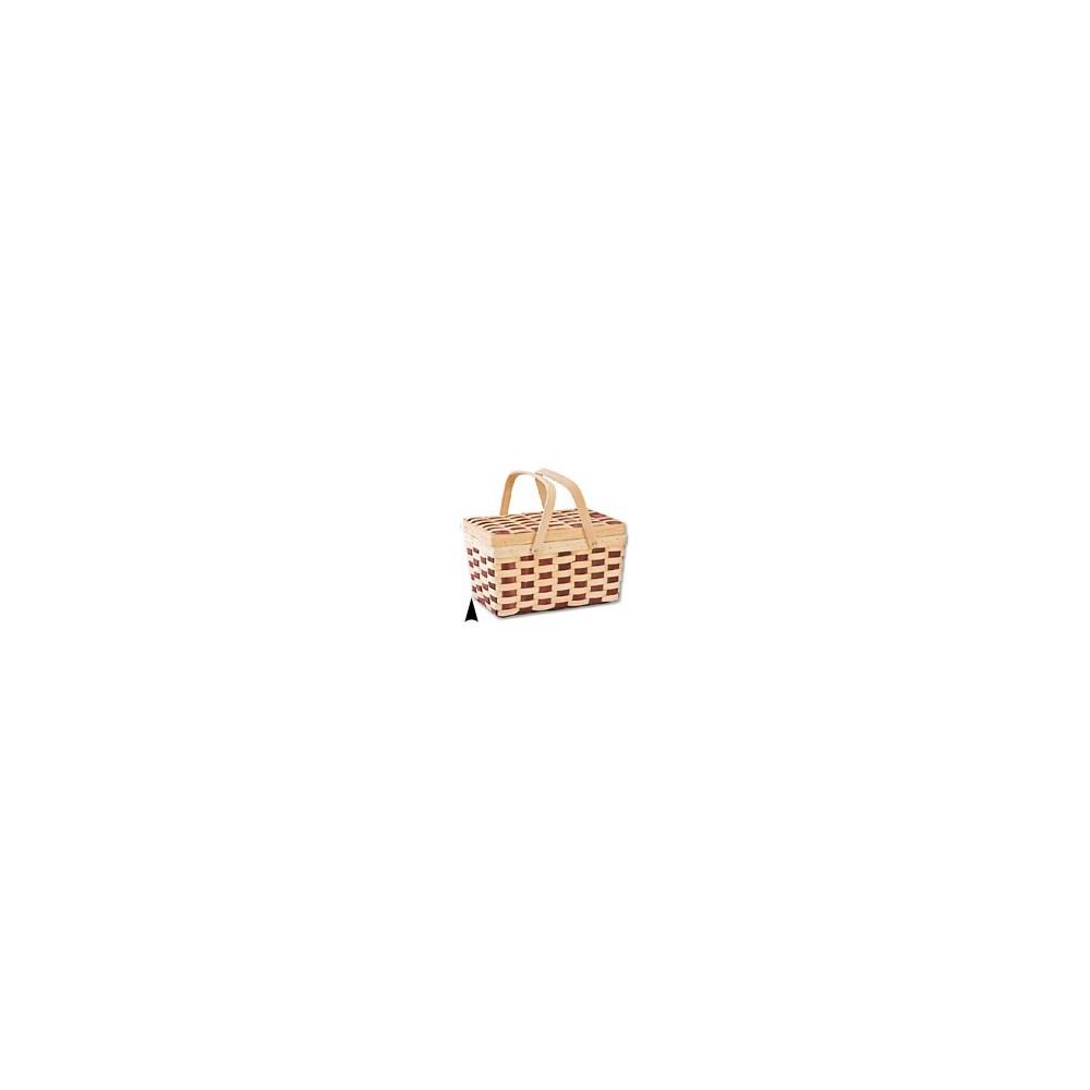 5/6322 WOOD PICNIC BASKET W/DROP HNDLE CS. PK.: 16