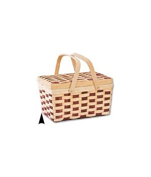 5/6322 WOOD PICNIC BASKET W/DROP HNDLE CS. PK.: 16