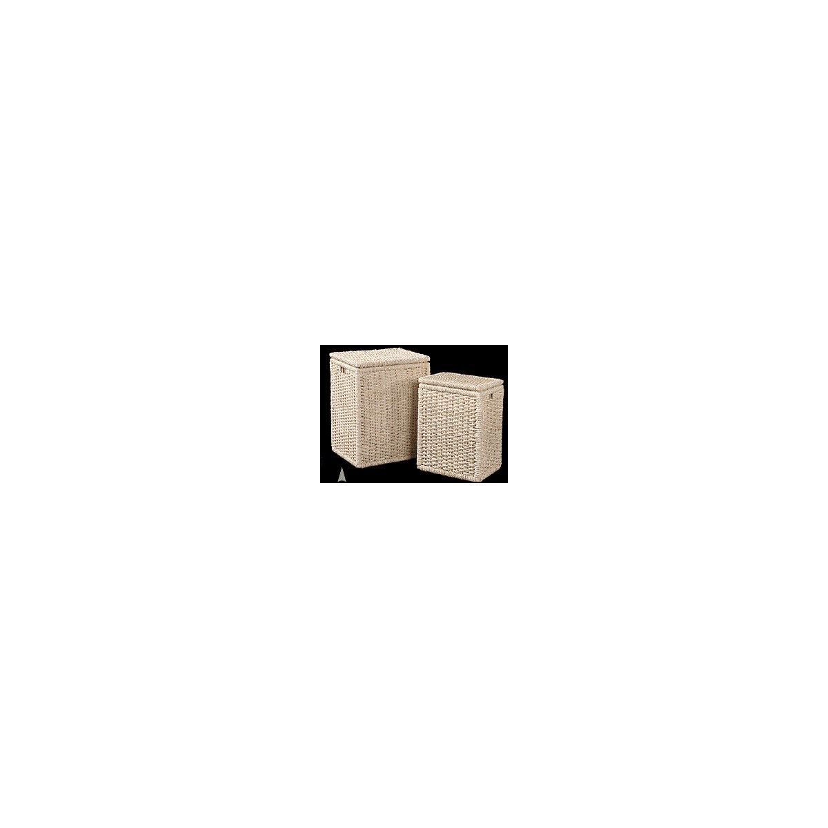 5/854 S/2 OBLONG MAIZE HAMPERS W/CLOTH LINER CS. PK.: 1