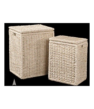 5/854 S/2 OBLONG MAIZE HAMPERS W/CLOTH LINER CS. PK.: 1