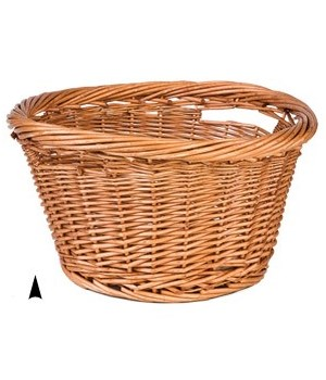 508 17 ROUND WILLOW BUSHEL BASKET CS. PK.: 20
