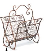 6013 RANDOM WEAVE METAL MAGAZINE HOLDER CS. PK.: 6