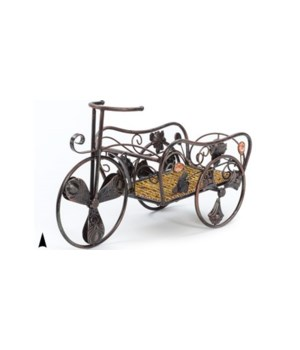 6027 ANTIQUE COPPER METAL CART CS. PK.: 8