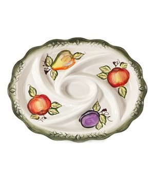 7/10306/B CERAMIC 5-SECTION OVAL TRAY CS. PK.: