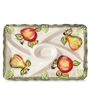 7/10341/B CERAMIC 5-SECTION OBLONG TRAY CS. PK.:
