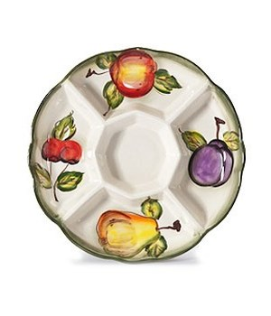 7/10363/B CERAMIC 5-SECTION ROUND TRAY CS. PK.: