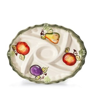 7/1157/B CERAMIC 5-SECTION OVAL TRAY CS. PK.: