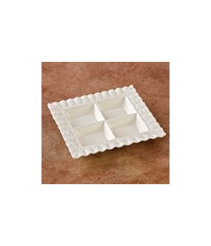 70025B CERAMIC 4-SECTION TRAY CS. PK.: