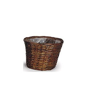 "8/10-9 12"" SPLIT RATTAN STAINED PLANTERS CS. PK.: 40"