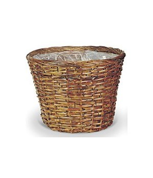 "8/12-9 14"" SPLIT RATTAN STAINED BASKET W/LINER CS. PK.: 24"