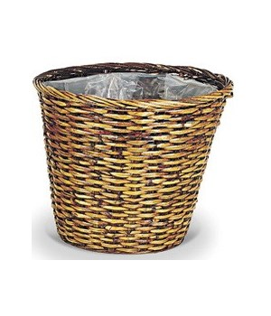 "8/14-9 16"" SPLIT RATTAN STAINED BASKET W/LINER CS. PK.: 16"