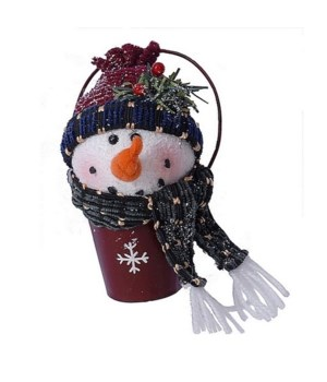 MINI PAIL SNOWMAN ORNAMENT CS. PK.: 48