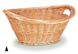 885/24B OVAL STAINED WILLOW LAUNDRY BASKET CS. PK.: 20