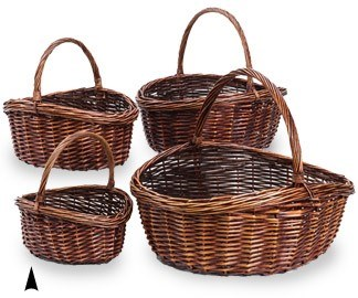 89001/RA S/4 STAINED WILLOW GERMANIA BASKETS CS. PK.: 4