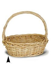 9/1170 OVAL THICK WILLOW BASKET CS. PK.: 12