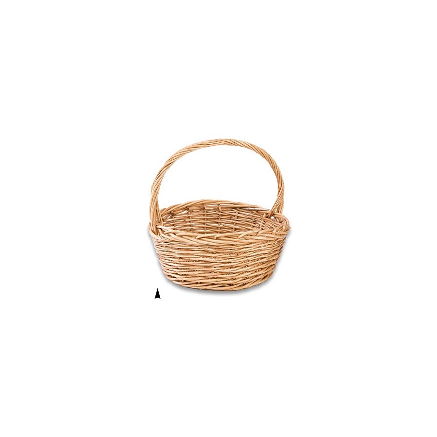 9/76867M ROUND THICK WILLOW BASKET CS. PK.: 12
