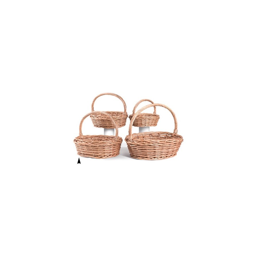 9/90440 S/4 OVAL JUMBO WILLOW BASKETS CS. PK.: 4