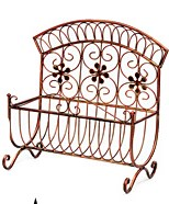 90338 ANTIQUE COPPER METAL MAGAZINE HOLDER CS. PK.: 6