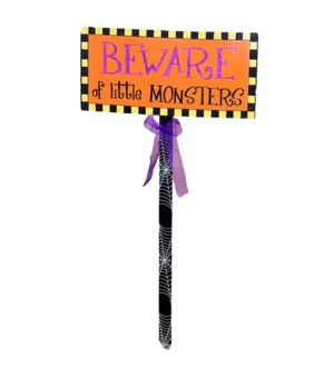 BEWARE OF MONSTER LAWN STAKE CS. PK.: 12