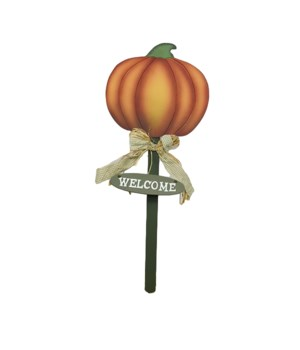 "30"" PUMPKIN STAKE SIGN CS. PK.: 12"