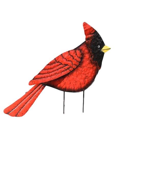 TIN RED CARDINAL YARD ART CS. PK.: 12