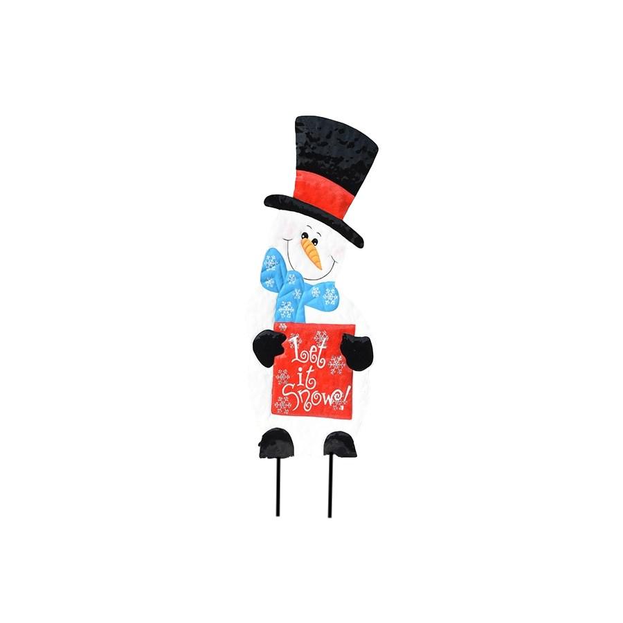 TIN SNOWMAN CS. PK.: 6