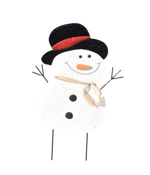 TIN GLITTER SNOWMAN YARD ART CS. PK.: 12
