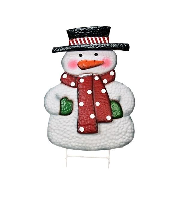 TIN SNOWMAN STAKE CS. PK.: 6